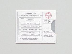 The Lettermate envelope addressing guide
