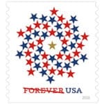 Patriotic Spiral Forever Stamp Issued Today