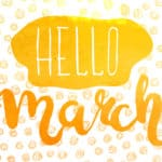 """March 2017 """"Hello March"""" Calendar Planning Lent Letters Lent with Neil Young"""