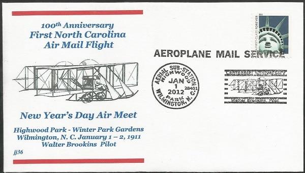 2012 100th Anniversary First North Carolina Air Mail Flight