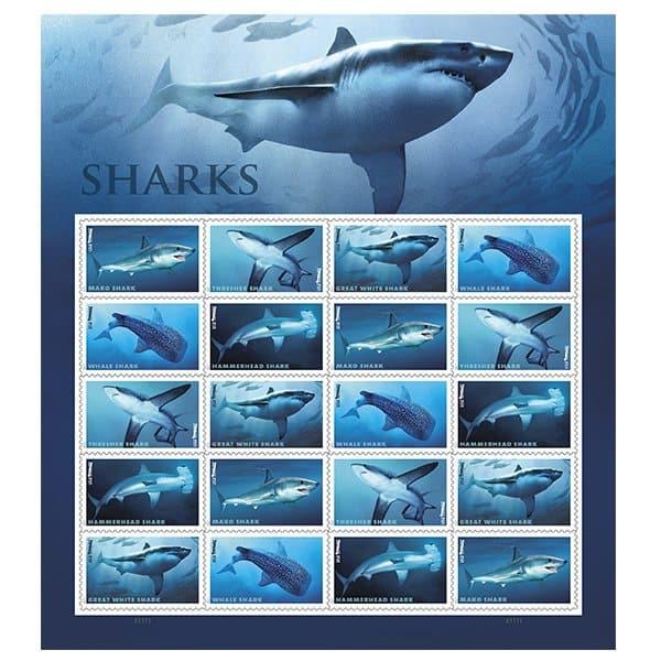 USPS Shark Stamps