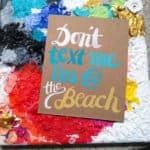 Summer postcard frameable art