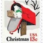 Read more about the article 1977 Rural Mailbox Christmas stamp