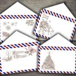 Read more about the article Christmas Air Mail Envelopes Digital Printables