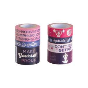 Fitness themed stationery washi tape