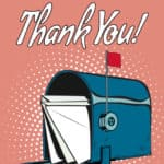 Pop Art Style Thank A Mailman Day with Mailbox card is by Greeting Card Universe.