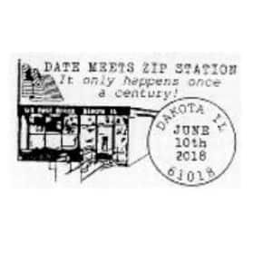 Date Meets Zip 61018 Pictorial Postmark