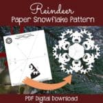 Read more about the article PaperSnowflakeArt Reindeer Paper Snowflake