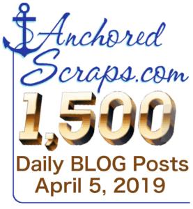 AnchoredScraps 1500 Daily Blog Post cachet
