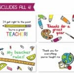 Read more about the article RSVPrintables School Teacher Card Bundle