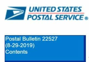 USPS Postal Bulletin 22527