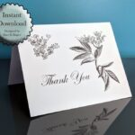 Read more about the article Elderberry Flower Thank You Card Printable