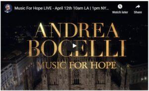 Andrea Bocelli Easter Sunday