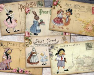 Vintage Easter Digital Postcards