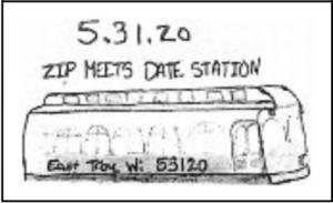 Zip Meets Date 53120 Pictorial Postmark East Troy WI