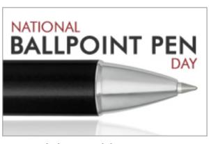 Ballpoint Pen Day 2020 Pen Chalet Promotions Underway