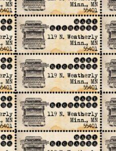 ThePerforatedPost Vintage Typewriter Return Address Labels