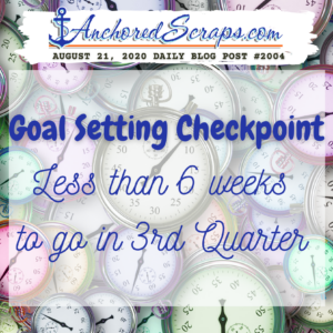 Goal Setting Checkpoint