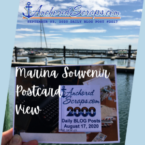 AnchoredScraps Marina Souvenir Postcard View