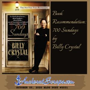 Book Recommendation Billy Crystal 700 Sundays #2031