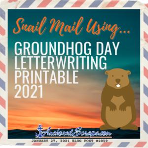 Groundhog Day Letterwriting Printable