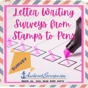 Letter Writing Surveys Stamps