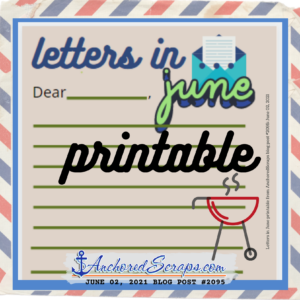 writing letters in june printable 2021