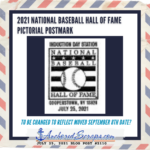 Read more about the article 2021 National Baseball Hall of Fame Pictorial Postmark DATE