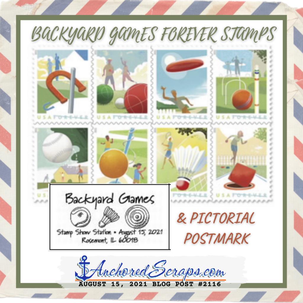Backyard Games Forever Stamps & Pictorial Postmark_AnchoredScraps #2116