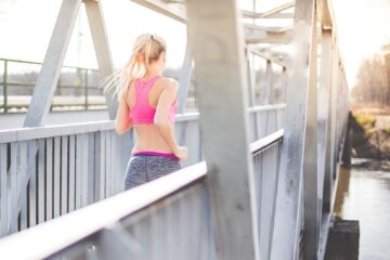 Young Fit Woman on Morning Jogging Run