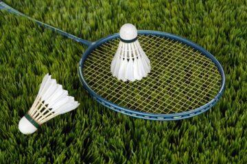 Eight badminton players