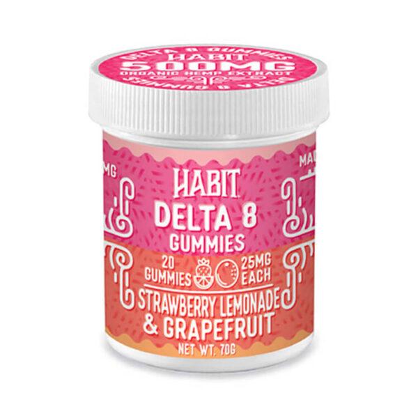 Delta 8 strawberry lemonade and grapefruit gummies