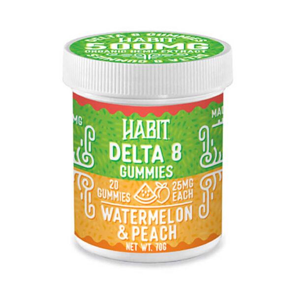 Delta 8 watermelon peach gummies