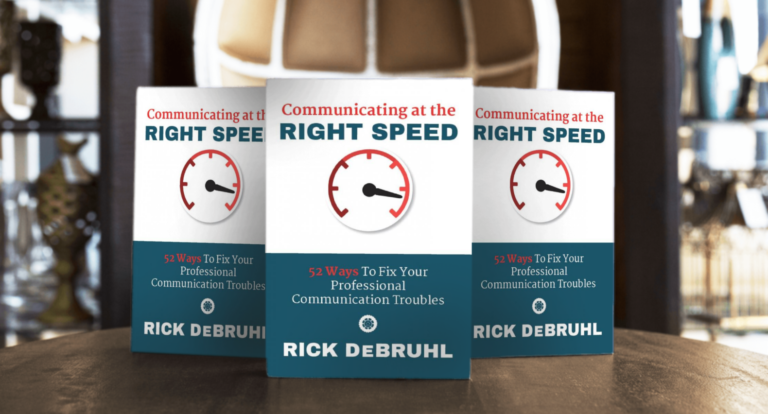 Communicating at the Right Speed