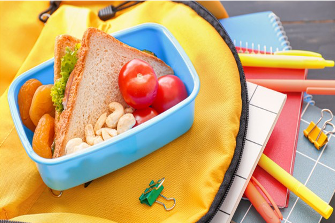 Yellow backpack lunch