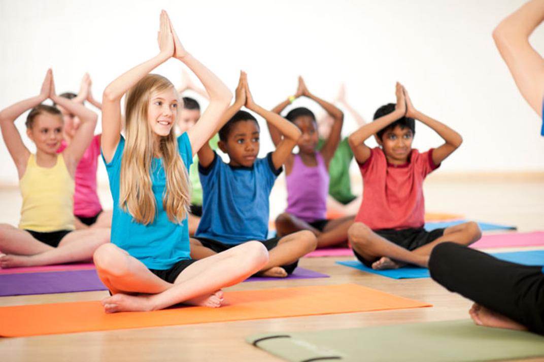 kids colors mats meditation yoga