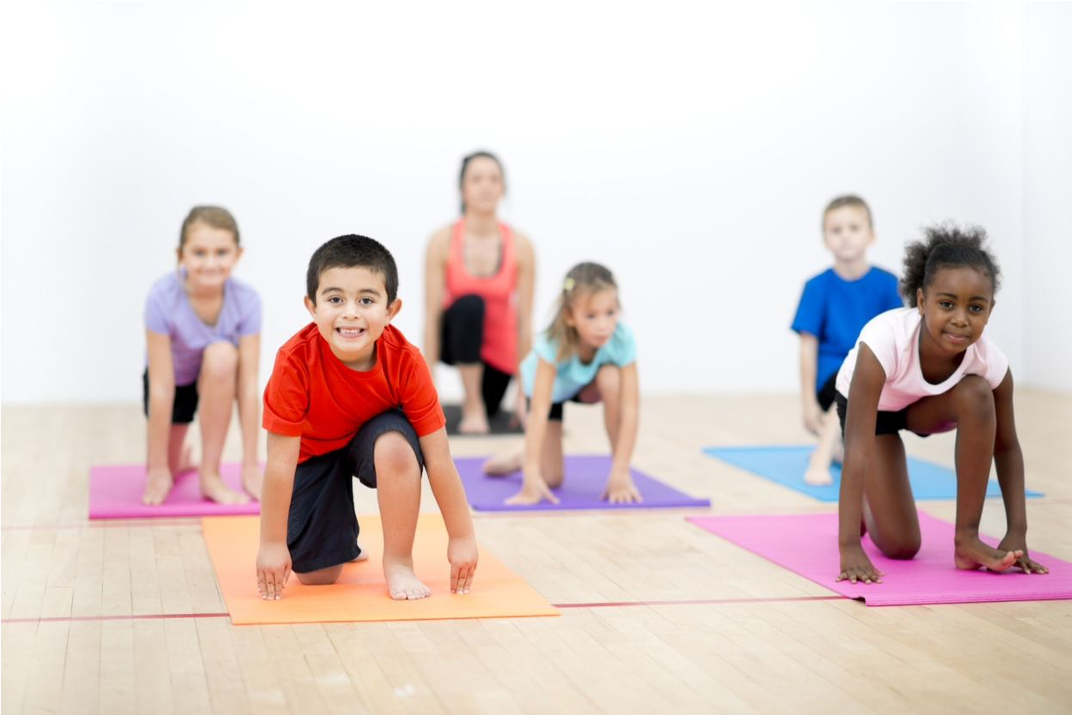 kids yoga coloful mats