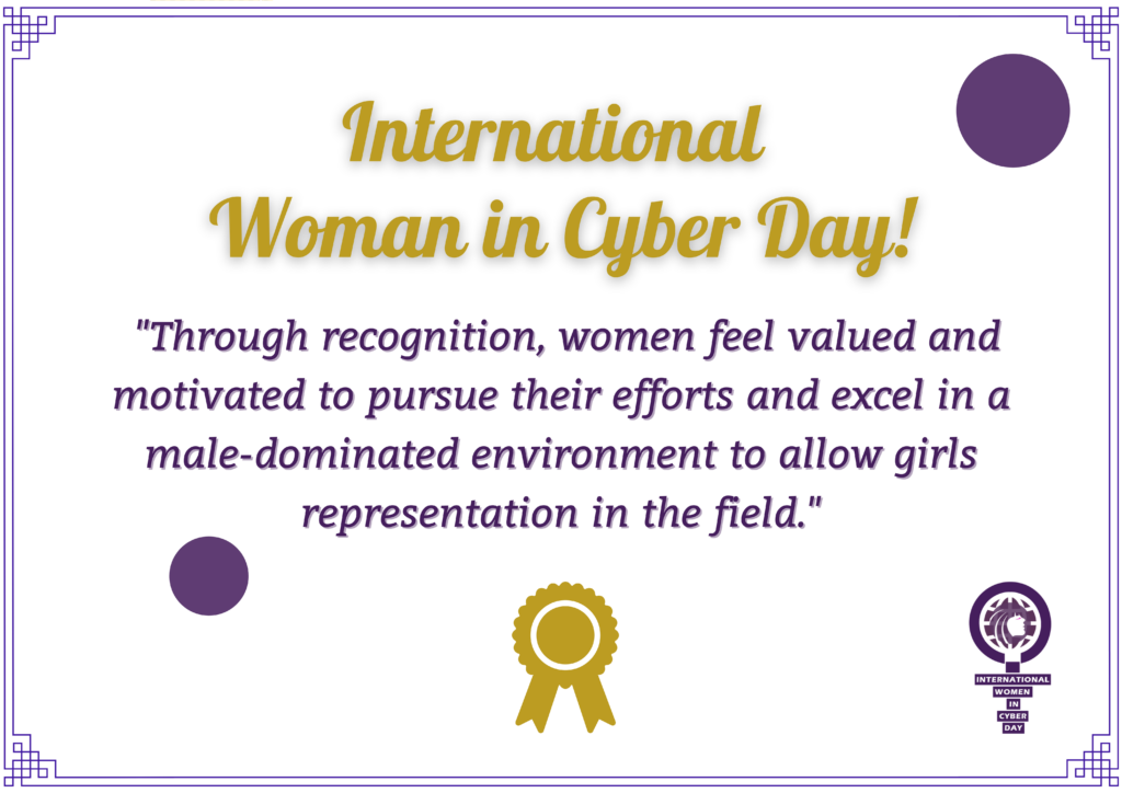 Recognizing and celebrating women in cybersecurity.