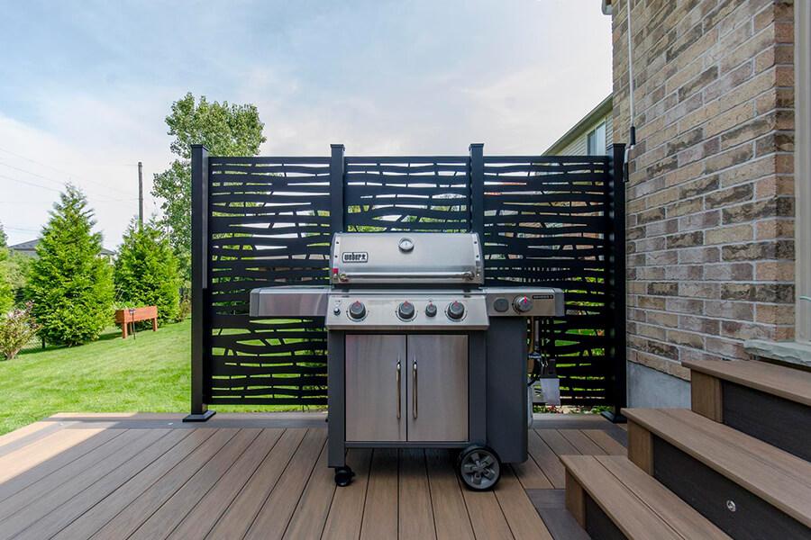 custom deck barbecue