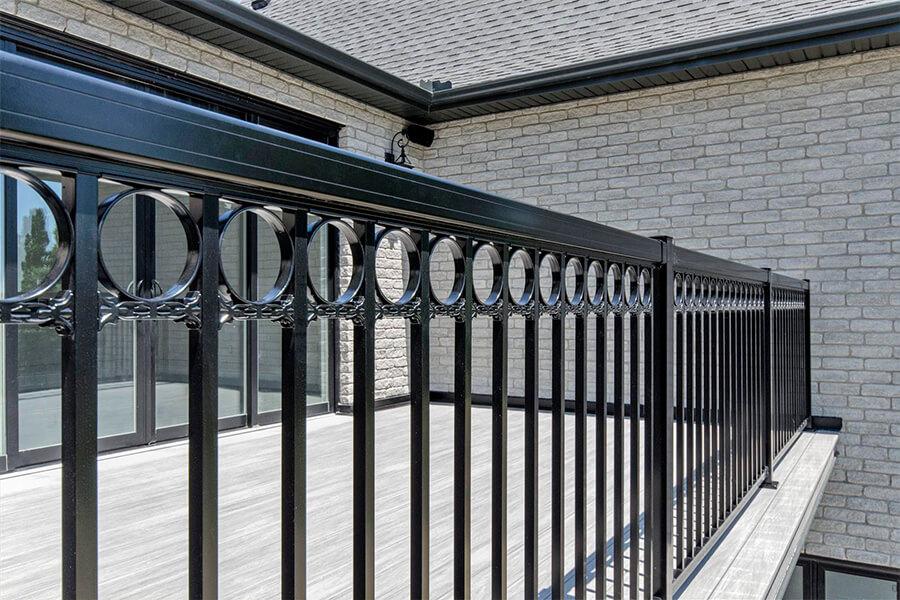 custom railing for decks