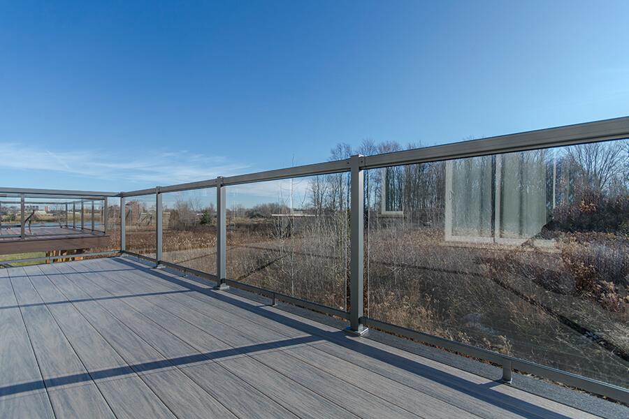 custom glass deck railings