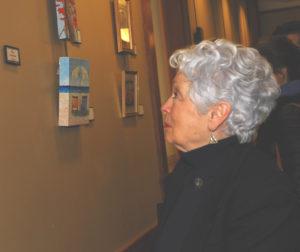 patron Looking at Art
