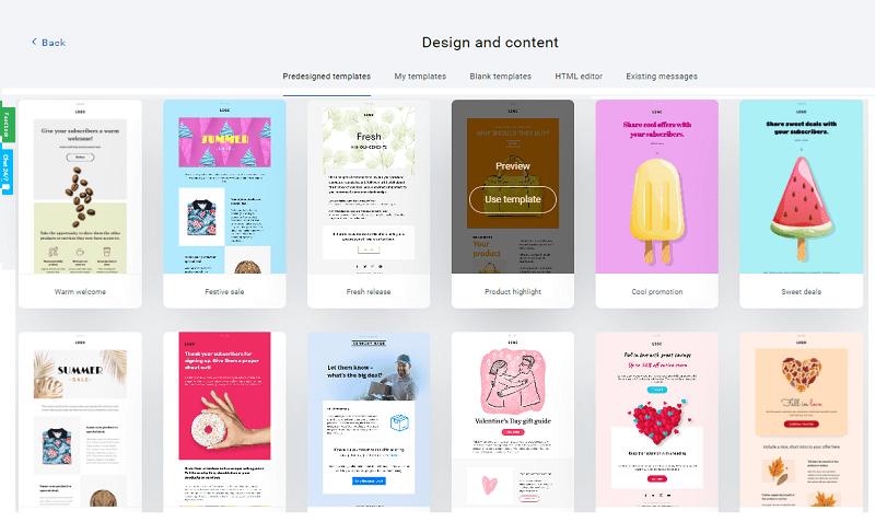 Design GetResponse Newsletter