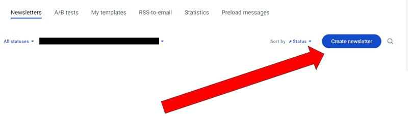 GetResponse - Create Newsletter Button