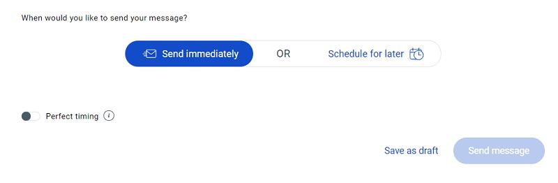 GetResponse Newsletter - Send or Schedule Newsletter