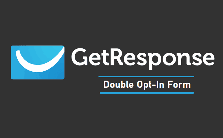 GetResponse Double Opt In Form