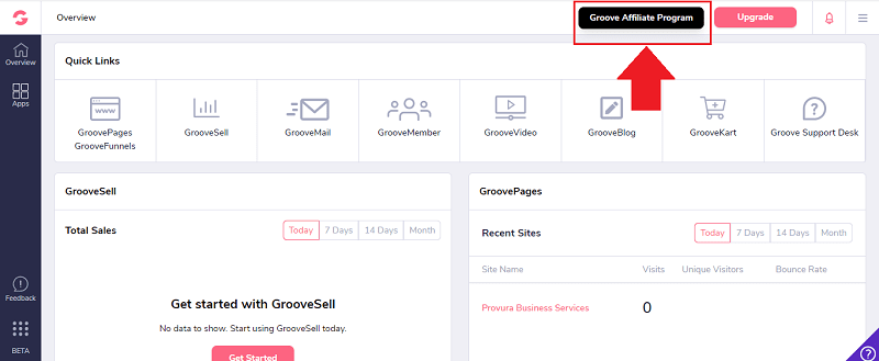 Groove Affiliate Program Button
