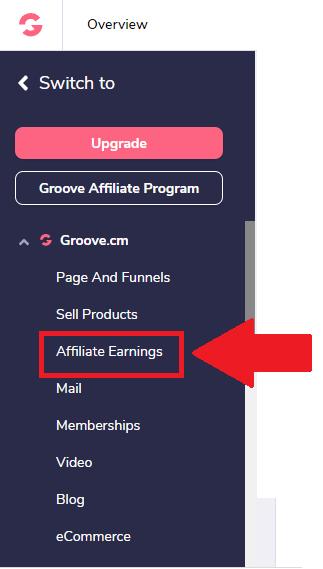 GrooveFunnels Affiliate Earnings App