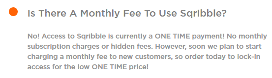 Is there a monthly fee to use Sqribble