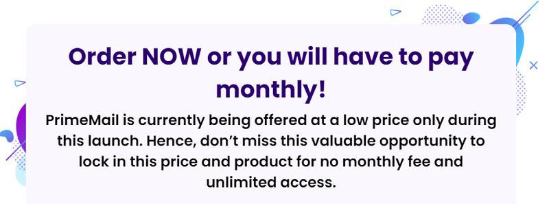 PrimeMail Price Increase